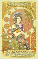 The Lady, an Indonesian Mucha by spidol