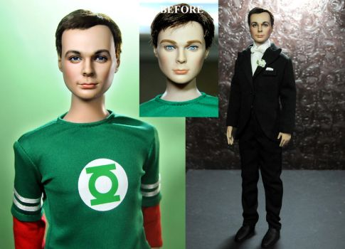 The Big Bang Theory Sheldon Cooper doll repaint by noeling
