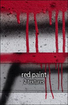 red paint textures by rainbows-stock