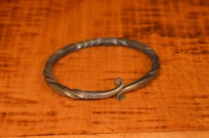 Oath Ring in Iron w/ Bronze brushing 2 by AutumnDogForge