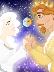 Queen and King of the Sky by CARTOONFANATIC3