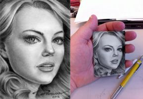ATC Artist Trading Cards - Emma Stone by pat-mcmichael
