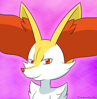 Smug Braixen by Mahoxy