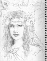 Lady of the Forest - sketch by MayumiOgihara