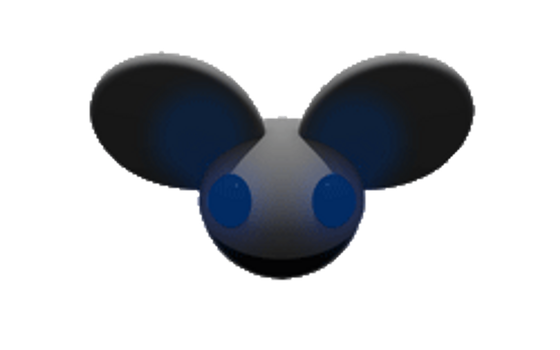 Blue Blinking Mau5head by jollypop2008