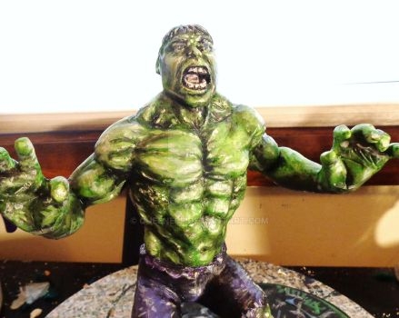 The Hulk Sculpt WIP almost finished by queenelf