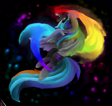 Wintereous: Stream of rainbow by DespairGriffin