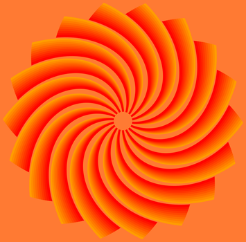 Fractal 007: Orange flower by hxseven