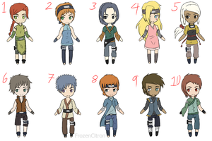 Naruto OC point adoptables... :CLOSED: by FrozenCitron