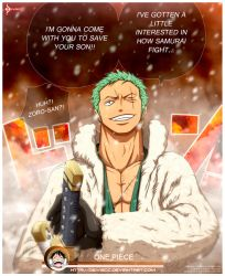Zoro's Heart on Fire by DEIVISCC