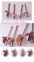 Pastry Hair Clips I by Eliwi