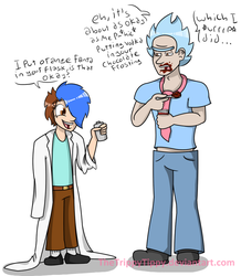 Rick and Tippy Clothes Swap... please stop me by TheTrippyTippy