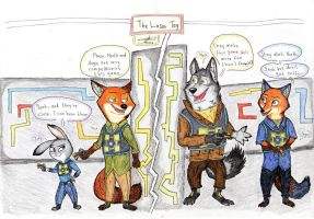 Zootopia Art : Laser Tag by AgiAutobots