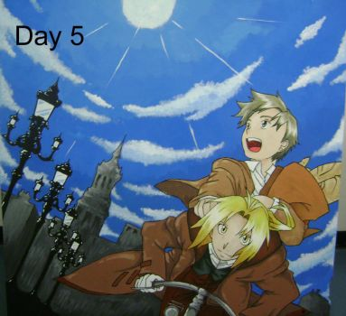 FMA Mural: Day 5 by AbbyChan