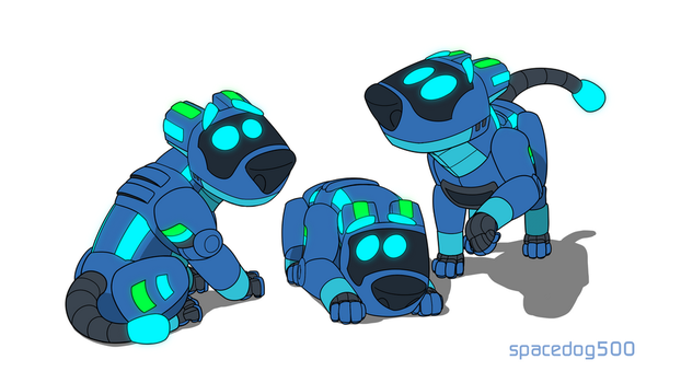 Space puppers by SpaceDog500
