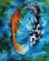 Mom's Koi by crazycolleeny