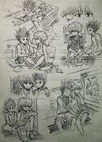 HxH sketches page 1 by zenzyx