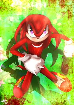 .:Sonic the Hedgehog:. Knuckles by N-Lilix