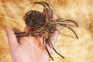 Steampunk Sculpture - Brass Spider by CatherinetteRings