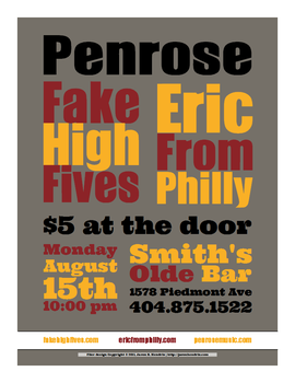 Fliers for Fake High Fives by ronamo