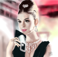 iPad FINGER painting: Anne Hathaway by chaseroflight