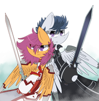 SAO Rumble and Scootaloo (again) by Rigiroony