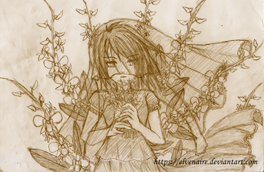 Orchid Bride Sketch by Elvenaire