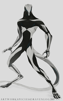 Biomechanical shapeshifter-humanoid form by Ravenlog