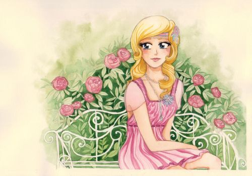 Rose Garden Afternoon by Cephis
