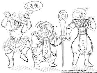 Freakazoid the god of destruction and friends by Rafeal