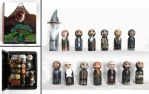 The Hobbit dolls and wooden book box by RFabiano