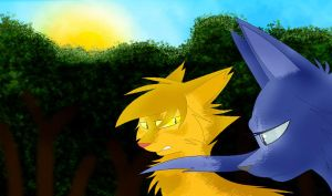 ::Lionheart and Bluestar:: by SamanthaThePanther