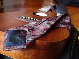Guitar Strap Tie: Back by xcmer