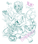 'Loads of Candy'-Halloween/Candy Gore YCH [CLOSED] by yomi-draws