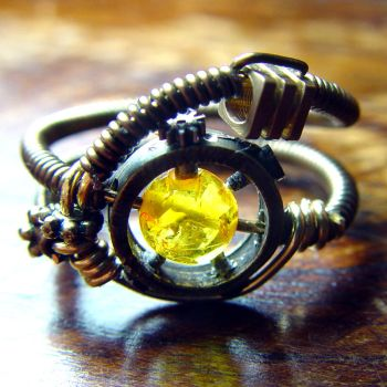 Full Steamed Steampunk Ring by CatherinetteRings