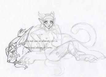Fenrire and Bry WIP by Rein-chan