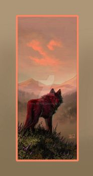 Red Wolf by ToolKitten