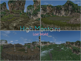 MMD Stage: High montains (Lost World) by kaahgomedl