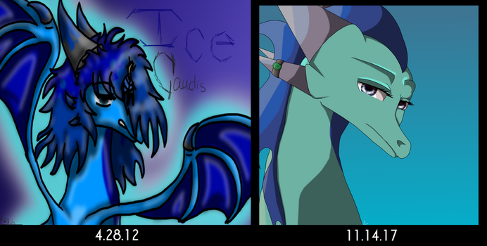 5 year comparrison by littlevioletstar