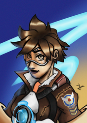 OVERWATCH - TRACER FANART by SRProductions