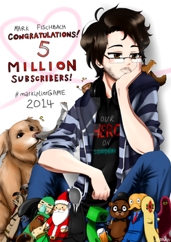 Markiplier 5 Million Subscribers by Pink-Scribble