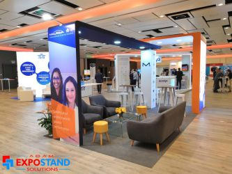 Spain booth design and construction at hotels Adam by AdamExpoStand