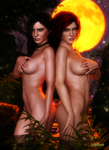 Yennefer and Triss by Agr1on