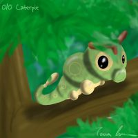 Pokemon Challenge 010-Caterpie by midgear