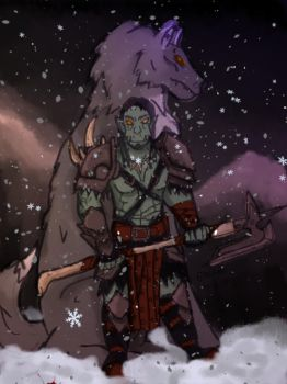 Winter Orc by spectacles-ak