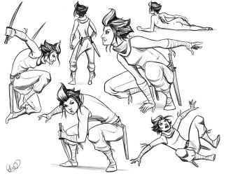Lian Poses by FlatAsABird