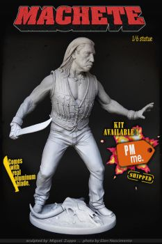 Machete statue kit available by miguelzuppo