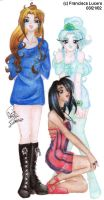 Almendra, Kahra and Faith by livingdoll