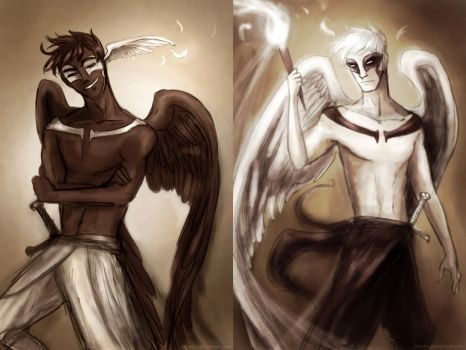 Thanatos and Hypnos by Arbetta