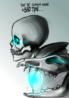 Sans Undertale - You're gonna have a bad time. by Yanhyalis